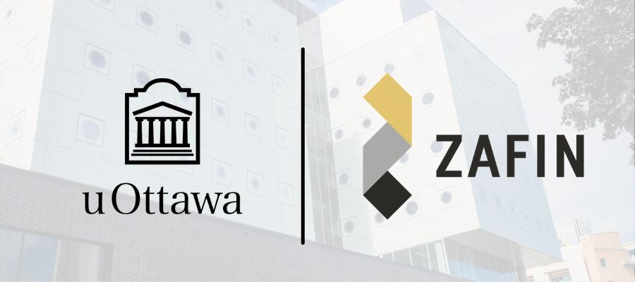 Zafin logo and uOttawa logo