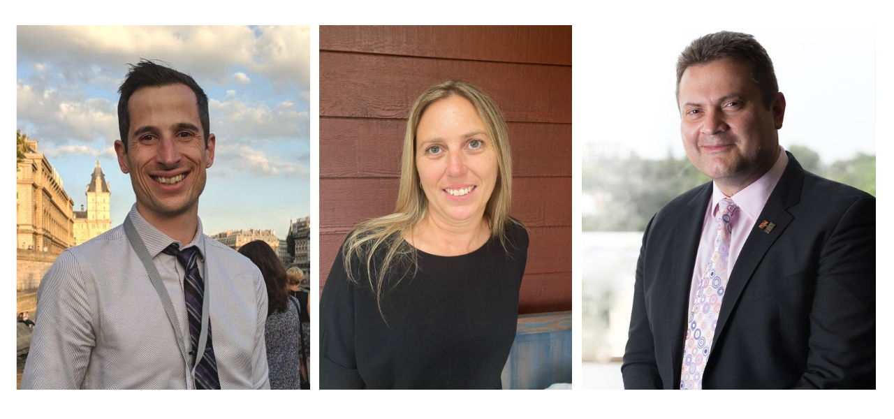 A photo montage of the 2021 faculty award recipients