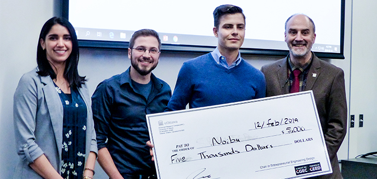 Cheque for first place awarded to Noibu