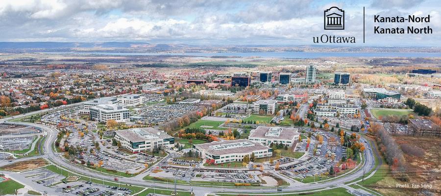Aerial view of the Kanata North Tech Park