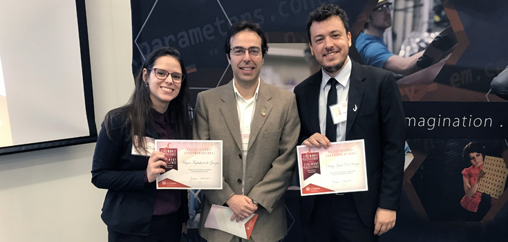 Leandro Sanchez with students Diego Jesus de Souza and Mayra Tagliaferri de Grazia
