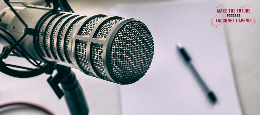 A microphone and a piece of paper