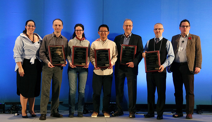 Tanya Woods, Professor Guy-Vincent Jourdan, Sophie Le Page, Qian Cui, Professor Gregor von Bochmann, Dr. Iosif Viorel Onut and Marcellus Mindel