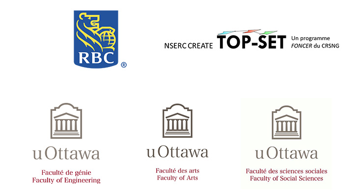RBC, NSERC CREATE Top-Set programme FONCER CRSNG, uOttawa faculties of Arts, Engineering and Social Sciences