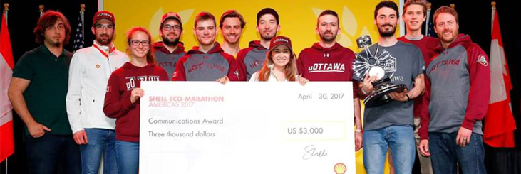 a team of uOttawa engineering students