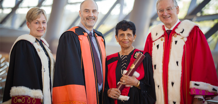 Veena Rawat with Jacques Beauvais and Jacques Frémont