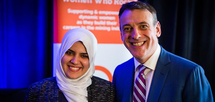 Zaineb with John Bianchini, President & CEO of Hatch